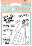 Love Story Mr. & Mrs. Cling Stamp - Stamperia