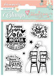 Love Story Toda La Vida Cling Stamp - Stamperia
