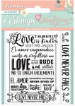 Love Story Love Never Fails Cling Stamp - Stamperia