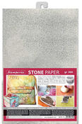 Silver Washable Stone Paper A4 - Stamperia