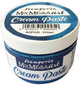 Blue Metallic Cream Paste 150ml - Stamperia - PRE ORDER