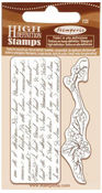 Writings & Branch Cling Stamp 2.75 x 4.25 - Stamperia
