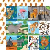Multi Journaling Cards Paper - Zoo Adventure - Carta Bella