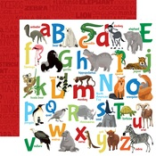 Animal Alphabet Paper - Zoo Adventure - Carta Bella - PRE ORDER