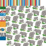 Elephants Paper - Zoo Adventure - Carta Bella - PRE ORDER