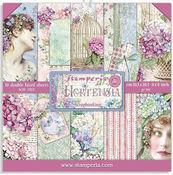 Hortensia 8 x 8 Paper Pad - Stamperia