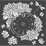 Clock Hortensia Stencil - Stamperia