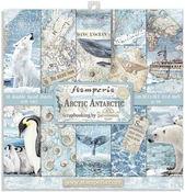 Arctic Antarctic Paper Pad 8 x 8 - Stamperia