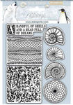 Arctic Antarctic Shells Cling Rubber Stamp - Stamperia