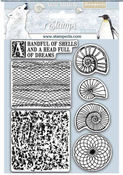 Arctic Antarctic Shells Cling Rubber Stamp - Stamperia - PRE ORDER