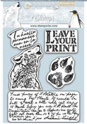Arctic Antarctic Leave Your Print Cling Rubber Stamp - Stamperia - PRE ORDER