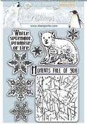 Arctic Antarctic Moments Full Of You Cling Rubber Stamp - Stamperia - PRE ORDER