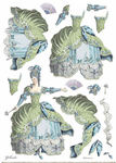 Lady Green Rice Paper A3 - Stamperia