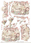 Lady Pink Rice Paper A3 - Stamperia