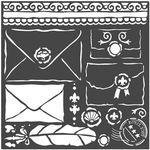 Letters Princess Stencil - Stamperia