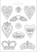 Hearts & Crowns Princess Soft Maxi Mould 8.5 x 11.5 - Stamperia - PRE ORDER