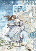 Winter Tales Fairy In The Wind Rice Paper - Stamperia - PRE ORDER