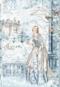 Winter Tales Fairy In The Snow Rice Paper - Stamperia - PRE ORDER