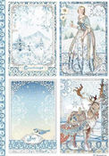 Winter Tales Cards Rice Paper - Stamperia - PRE ORDER