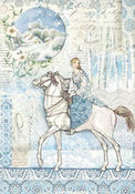 Winter Tales Horse Rice Paper - Stamperia - PRE ORDER