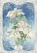 Winter Tales Poinsettia Rice Paper - Stamperia - PRE ORDER