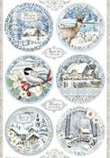 Winter Tales Round Landscapes Rice Paper - Stamperia - PRE ORDER