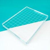 "Acrylic Grid Stamping Block 4-7/8"" X 6-1/8"""