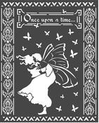 Winter Tales Once Upon A Time Stencil 7.87 x 9.84 - Stamperia