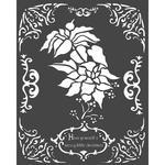 Winter Tales Poinsettia Stencil 7.87 x 9.84 - Stamperia
