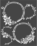 Winter Tales Garlands Stencil 7.87 x 9.84 - Stamperia