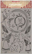 Winter Tales Fairies Greyboard Cut-Outs - Stamperia - PRE ORDER