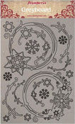 Winter Tales Snowflakes & Garlands Greyboard Cut-Outs - Stamperia - PRE ORDER