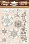 Winter Tales Snowflakes Cling Rubber Stamp - Stamperia