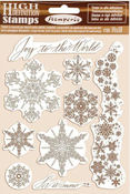 Winter Tales Snowflakes Cling Rubber Stamp - Stamperia - PRE ORDER