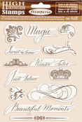 Winter Tales Beautiful Moments Cling Rubber Stamp - Stamperia - PRE ORDER