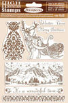 Winter Tales Winter Time Cling Rubber Stamp - Stamperia