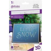 Let It Snow Gemini 3D Embossing Folder - Crafter's Companion