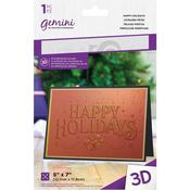 Happy Holidays Gemini 3D Embossing Folder - Crafter's Companion
