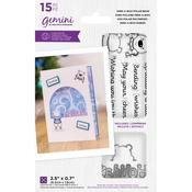 Gemini Peek-A-Boo Polar Bear Clear Stamp & Dies - Crafter's Companion