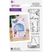 Gemini Peek-A-Boo Santa Clear Stamp & Dies - Crafter's Companion