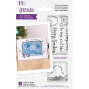 Gemini Peek-A-Boo Penguin Clear Stamp & Dies - Crafter's Companion