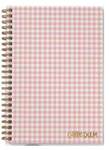 Ballerina Pink Check B5 Carpe Diem Hardcover Notebook - Pukka Pads - PRE ORDER