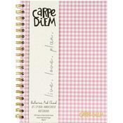Ballerina Pink Check B5 Carpe Diem Hardcover Notebook - Pukka Pads