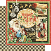 Christmas Time Paper - Christmas Time - Graphic 45 - PRE ORDER