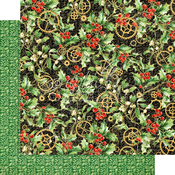 Holly and Mistletoe Paper - Christmas Time - Graphic 45 - PRE ORDER