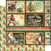North Pole Express Paper - Christmas Time - Graphic 45 - PRE ORDER