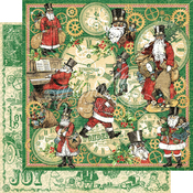 Here Comes Santa Clause Paper - Christmas Time - Graphic 45 - PRE ORDER