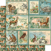 Be Clever Paper - Woodland Friends - Graphic 45