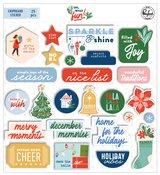 Oh What Fun! Chipboard Stickers - Pinkfresh Studio