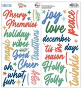 Oh What Fun! Puffy Phrase Stickers - Pinkfresh Studio - PRE ORDER